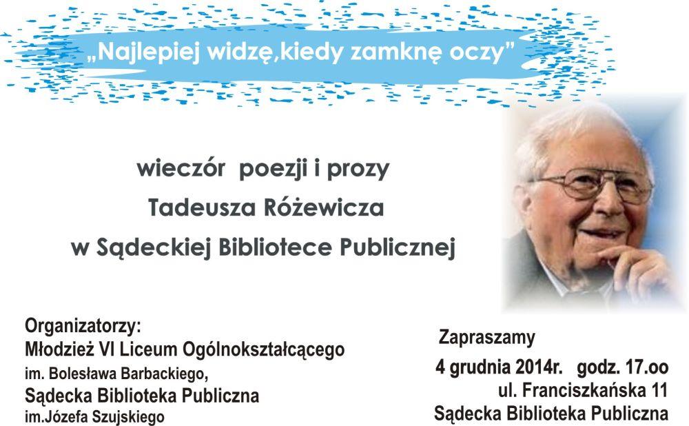 4 grudnia Różewicz 2