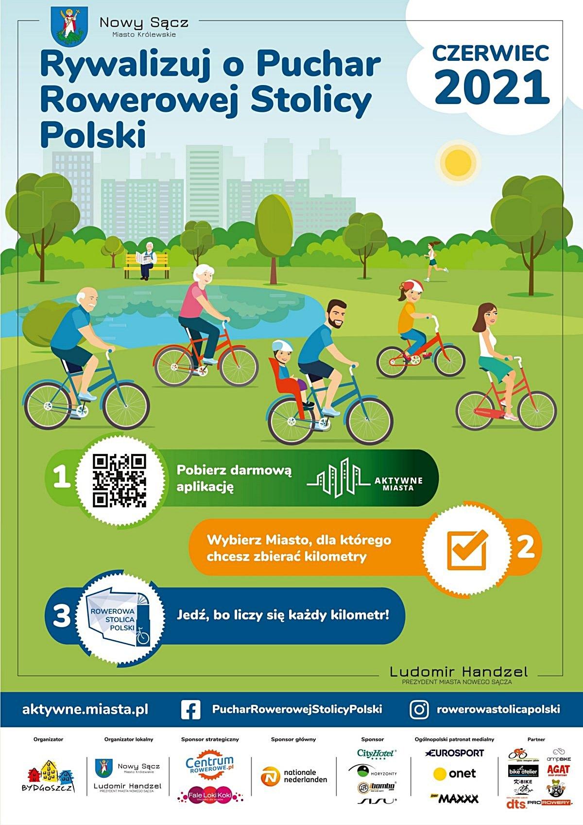 Plakat Rowerowa Stolica Polski 2021