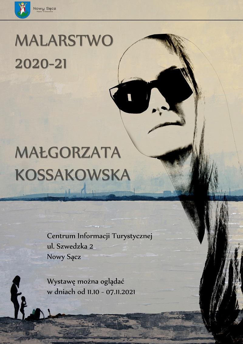 Plakat wystawy Małgorzaty Kossakowskiej